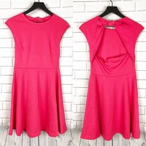 GAP NWT open back fit & flare pink dress 2